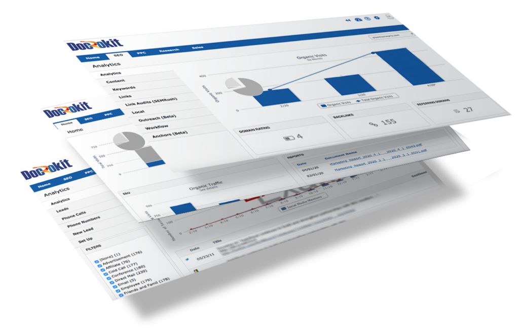 SEO reporting dashboard snap