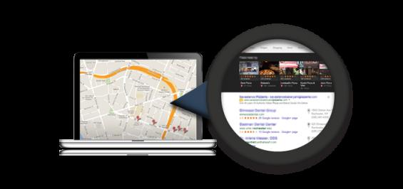 Snap of laptop showing google maps