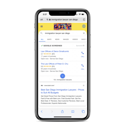 Google Local Service Ads On Mobile Device